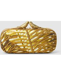 Sarah's Bag - Lovers Beaded Box Clutch - Lyst