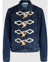 JW Anderson - Oversized Toggle Denim Duffle Jacket - Lyst