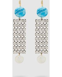 Rachel Comey - Jib Crystal And Turquoise Earrings - Lyst