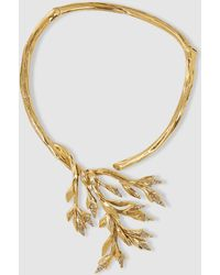 Alberta Ferretti - Leaf Gold-tone Necklace - Lyst