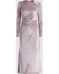 Rachel Comey - Diagonal Neck Velvet Midi Dress - Lyst