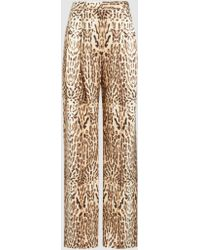 Adam Lippes - Ocelot-print Wool Wide-leg Trousers - Lyst