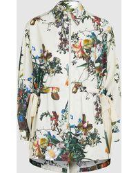 Adam Lippes - Floral-print Cotton-poplin Jacket - Lyst