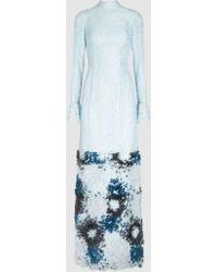 Madiyah Al Sharqi - Fur Embellished Lace Gown - Lyst