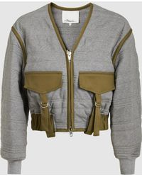 3.1 Phillip Lim - Cotton Quilted Cropped Utility Jacket - Lyst