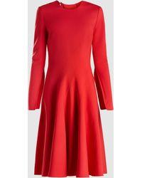 Oscar de la Renta - Stretch Wool-crepe Dress - Lyst