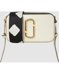 Marc Jacobs - Snapshot Cloud White Leather Bag - Lyst