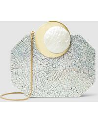 Nathalie Trad - Lucia Shell Clutch With Detachable Chain Strap - Lyst