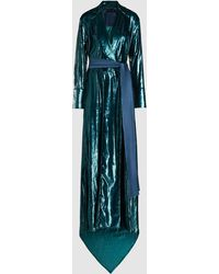 Michael Lo Sordo - Glitter Long Sleeve Velvet Maxi Dress - Lyst