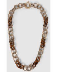 Rosantica - Carrarmato Beaded Quartz Gold-tone Necklace - Lyst