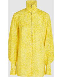 Lemaire - Oversized Printed Silk-blend Shirt - Lyst