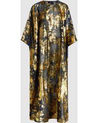 Taller Marmo - Foil-print Silk-blend Kaftan Gown - Lyst