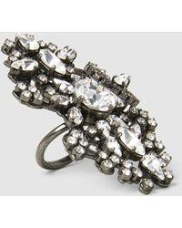 Erickson Beamon - China Club Embellished Pewter-tone Ring - Lyst