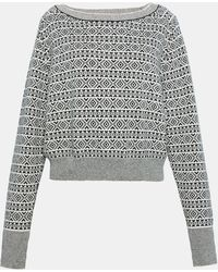 Theory - Cashmere Fair Isle Boatneck Sweater - Lyst
