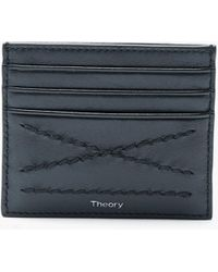 Theory - Card Case With X Stitch - Lyst
