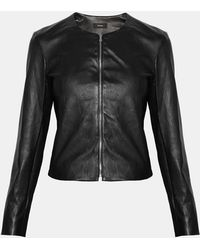 Lyst Theory Jacket Leather Fitted Stretch 0wqv1Y