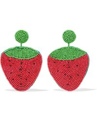 Kenneth Jay Lane - Beaded Earrings - Lyst
