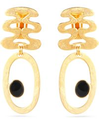 Ben-Amun - Hammered Gold-tone Resin Earrings - Lyst