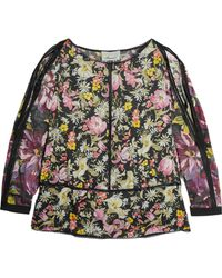 3.1 Phillip Lim - Meadow Flower Print Silk Cold Shoulder Top - Lyst