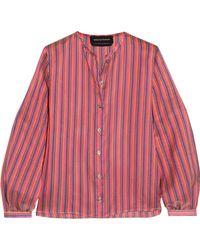 Vanessa Seward - Danais Striped Silk-jacquard Blouse - Lyst