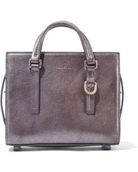 Rick Owens - Metallic Textured-leather Tote - Lyst