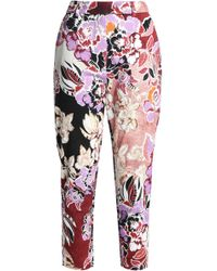 Just Cavalli - Printed Crepe Tapered Trousers - Lyst