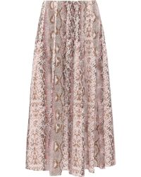 44dd92b697 Emilia Wickstead - Woman Richie Pleated Snake-print Silk Crepe De Chine  Midi Skirt Animal