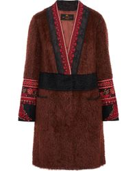 Etro - Embellished Mohair And Wool-blend Jacket - Lyst