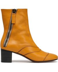 Chloé - Lexie Panelled Leather Ankle Boots - Lyst