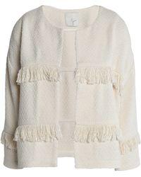 Joie - Fringed Cotton-blend Jacket - Lyst