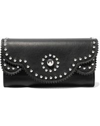 Sandro - Studded Leather Wallet - Lyst