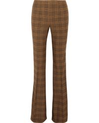 Michael Kors - Printed Stretch-wool Bootcut Trousers Light Brown - Lyst