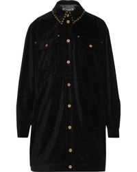 McQ - Oversized Studded Canvas Jacket Black - Lyst