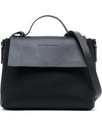 Brunello Cucinelli - Bead-embellished Leather Shoulder Bag - Lyst