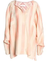 Chloé - Striped Linen And Silk-blend Tunic - Lyst