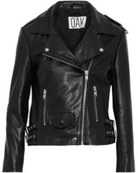 OAK - Ny Rider Leather Biker Jacket - Lyst