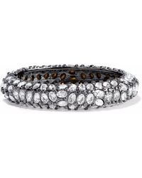Kenneth Jay Lane - Gunmetal-tone Crystal Bracelet - Lyst