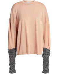 Esteban Cortazar - Metallic-paneled Merino Wool, Silk And Cashmere-blend Sweater - Lyst