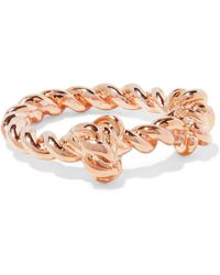 Aurelie Bidermann - Palazzo Rose Gold-tone Ring - Lyst