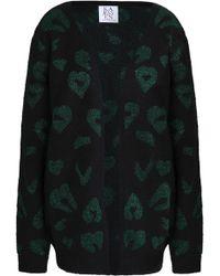 Zoe Karssen - Metallic Jacquard-knit Cardigan - Lyst