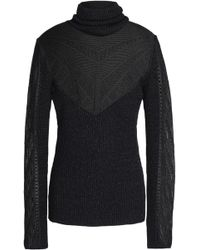 Just Cavalli - Ribbed And Pointelle-knit Jumper - Lyst