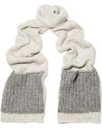 Sandro - Color-block Knitted Scarf - Lyst