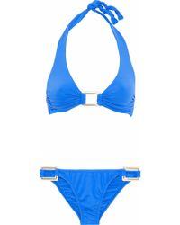 Melissa Odabash - Paris Ruched Halterneck Bikini - Lyst