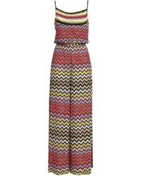 af7e2ab0d83 Missoni - Woman Metallic Crochet-knit Jumpsuit Multicolour Size 42 - Lyst