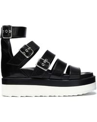 Pierre Hardy - Buckled Leather Platform Sandals - Lyst