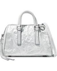 Rick Owens - Metallic Crinkled Leather Shoulder Bag - Lyst