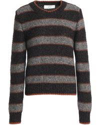 Vanessa Bruno Athé - Woman Striped Knitted Jumper Grey - Lyst