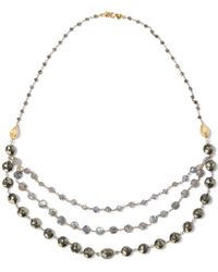 Chan Luu - Woman 18-karat Gold-plated Sterling Silver Stone And Bead Necklace Metallic - Lyst