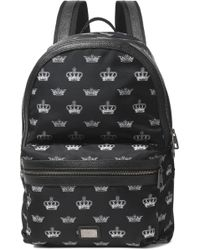 Dolce & Gabbana - Textured Leather-trimmed Printed Shell Backpack - Lyst