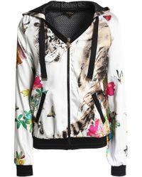 Roberto Cavalli - Printed Satin Hooded Jacket - Lyst